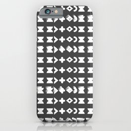 print black-white iPhone Case