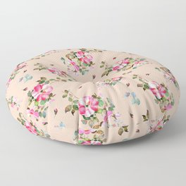 pink watercolor roses on palest pink Floor Pillow