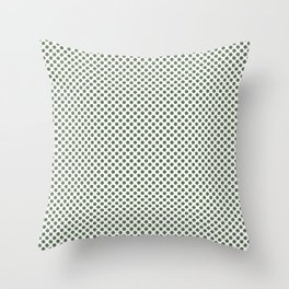 Vineyard Green Polka Dots Throw Pillow