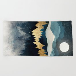 Indigo Night Beach Towel