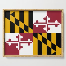Maryland State Flag, Hi Def image Serving Tray