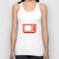 tv Tank Tops featuring television by brittcorry