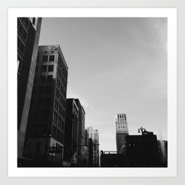 Broderick Tower - Detroit, MI Art Print