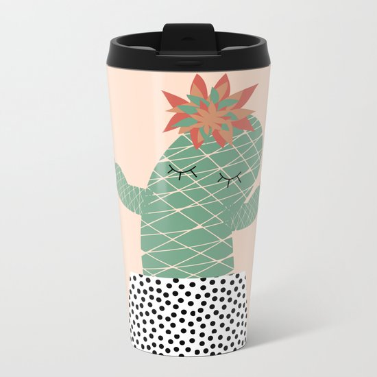 Mrs Succulent Metal Travel Mug