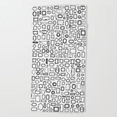 letter N - nailed frames Beach Towel