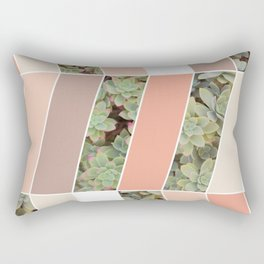 Pink Herringbone #society6 #pink #succulent Rectangular Pillow