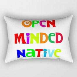 Open minded Native Rectangular Pillow