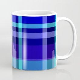 Blue Plaid Pattern Coffee Mug