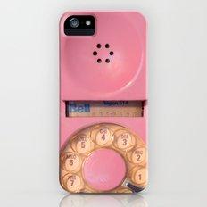 Pink Hotline iPhone (5, 5s) Slim Case