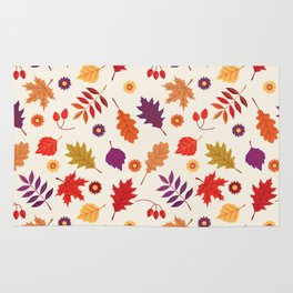 Autumn foliage with bright leaves Rug