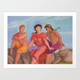 Apollo, Aphrodite and Dionysus Art Print