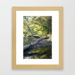 criss cross creek Framed Art Print