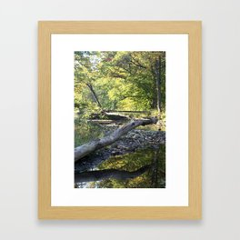criss cross creek Framed Art Print