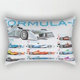 Formula E Cars Rectangular Pillow