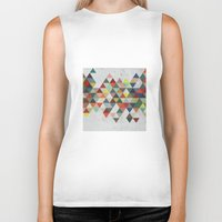 xbox Biker Tanks featuring Colorful Triangles by Dizzy Moments