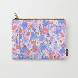 Flower Field Apricot Lilac Carry-All Pouch