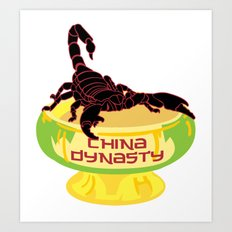 China Dynasty Scorpion Bowl Art Print