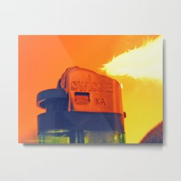 Lighter Flame Metal Print