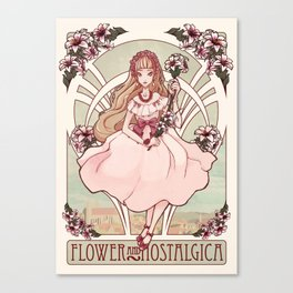 Flower and Nostalgica Canvas Print
