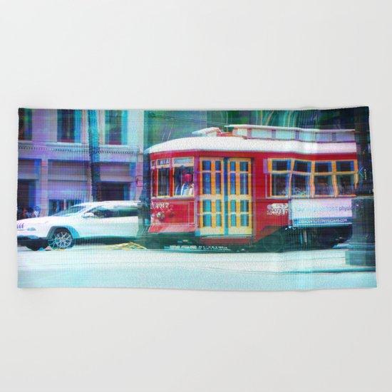 Streetcar on Canal Street Beach Towel