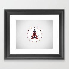 American Lake Framed Art Print
