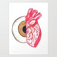 Eye/Heart Art Print