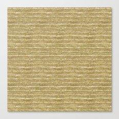 Gold Sparkle Stripes Canvas Print