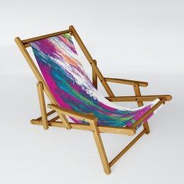 Magenta Sweep Sling Chair