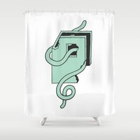 baltimore Shower Curtains featuring Baltimore Worm by Goods