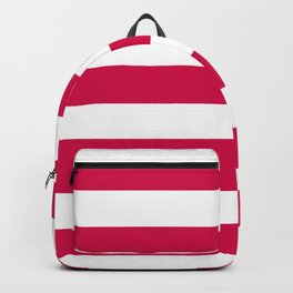 Spanish carmine - solid color - white stripes pattern Backpack
