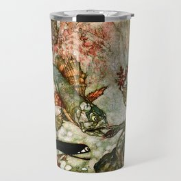 """King of the Mermaids"" Fairy Tale Art by Edmund Dulac Travel Mug"