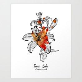 Tiger Lily Art Print