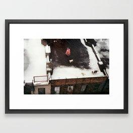 Walking on the roof Framed Art Print