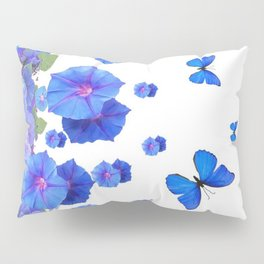 BABY BLUE ART BLUE BUTTERFLIES & MORNING GLORIES Pillow Sham