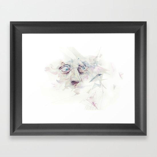 living in delay Framed Art Print