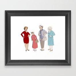 Golden Girls Framed Art Print