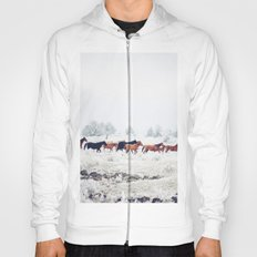 Winter Horse Herd Hoody