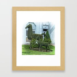 Horse and Foal Topiary Framed Art Print