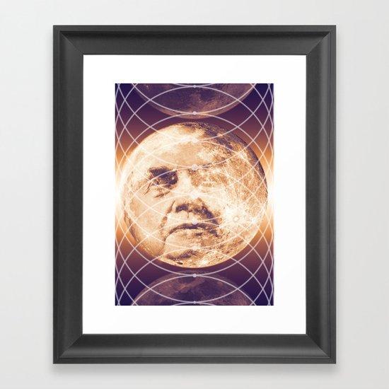 Man in the Moon Phases Framed Art Print