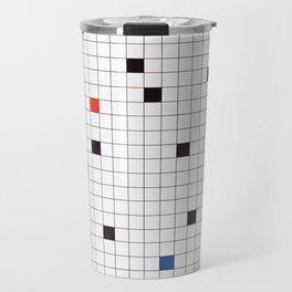 Crossword Puzzle #GraphicDesign #Minimalism Travel Mug