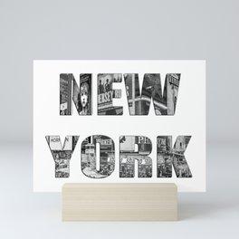 New York  B&W typography Mini Art Print