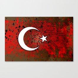 circuit board turkey (flag) Canvas Print