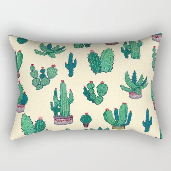 Cactus !! green Rectangular Pillow