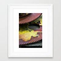 gears of war Framed Art Prints featuring Gears by Clara James