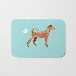Irish Terrier farting dog cute funny dog gifts pure breed dogs Bath Mat