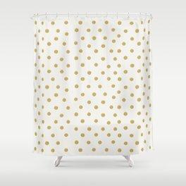 Gold Spots Shower Curtain