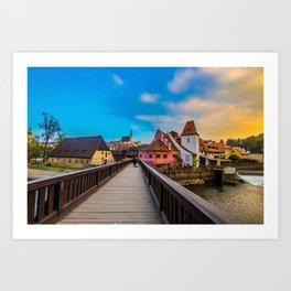 Cesky Krumlov HDR Art Print