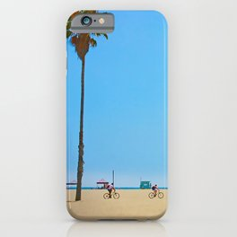 Venice Beach to Santa Monica Bicycle Riders iPhone Case