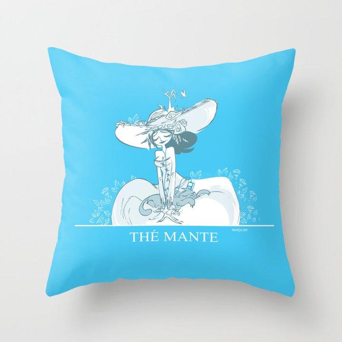 Thé Mante Throw Pillow
