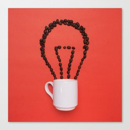 Coffee idea Canvas Print